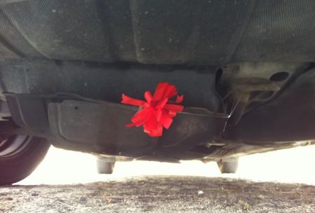 Kokardka pod silnikiem