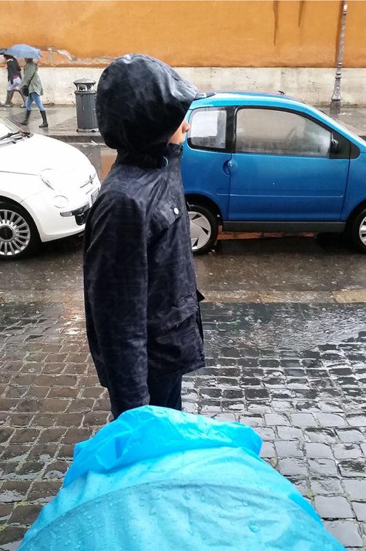 deszczowy rzym